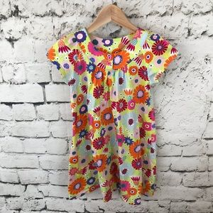 Hanna Andersson Dress 120cm 6X-7 Bright Floral